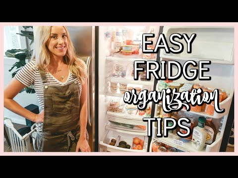 FRIDGE CLEAN OUT & ORGANIZATION IN 12 EASY STEPS! | OLIVIA ZAPO