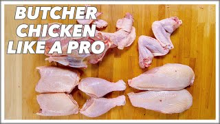 Pro Butcher Shows How To Cut Up A Whole Chicken  || Glen & Friends Cooking
