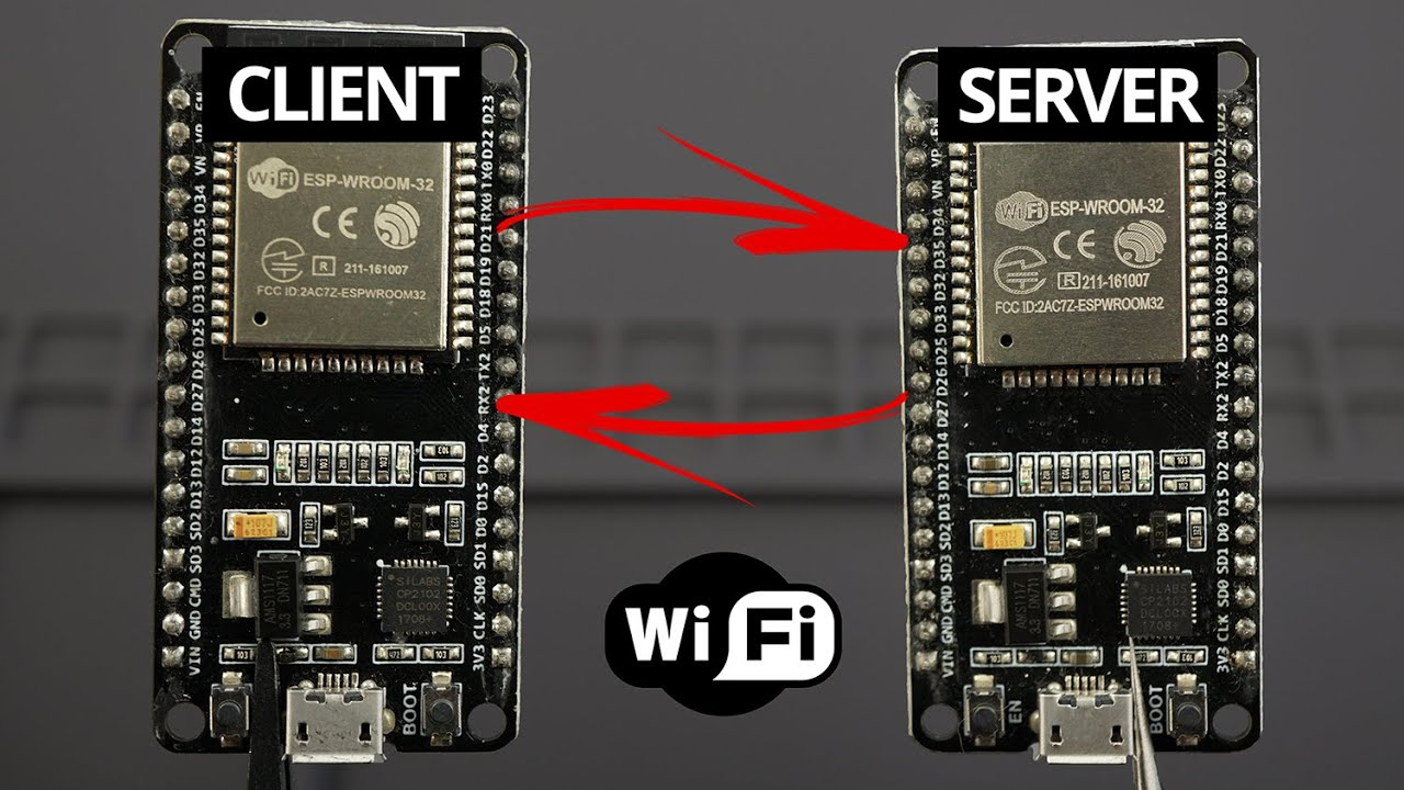 ESP32 Client-Server Wi-Fi Communication Between Two Boards (ESP8266 Compatible)