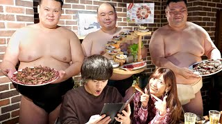 「今日は奢る」と言わせた後、大量にお相撲さん呼んだらお会計が…【モニタリング】