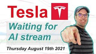 Tesla (TSLA) Waiting for AI Stream - Technical Stock Analysis August 19th 2021