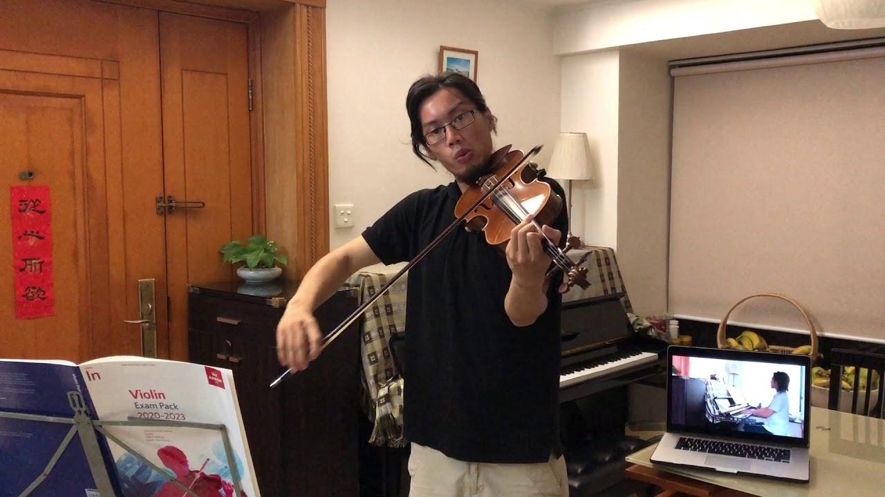 ABRSM 2020-2023 Violin Initial Grade - A3 Performance [Lightly Row]