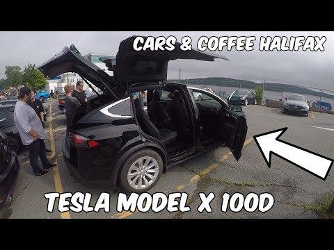 The CRAZY Tesla Model X 100d - Cars & Coffee Halifax Aug 2017