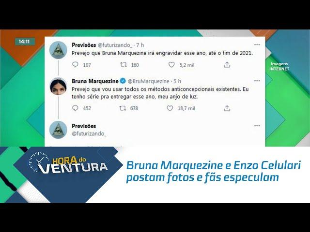 Bruna Marquezine e Enzo Celulari postam fotos e fãs especulam que eles estão juntos