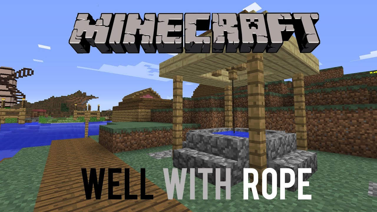 Realistic Minecraft Well With Rope - How To Make A Well