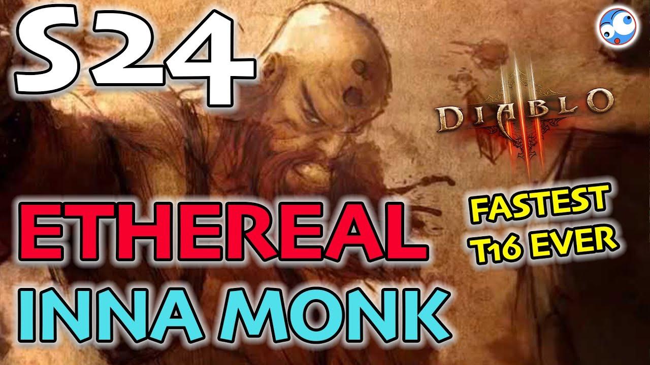 Fastest T16 I've ever played - Inna Mystic Ally Surfer Monk Season 24 Diablo 3