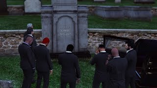 L' enterrement de JOHNNY HALLYDAY sur GTA 5 R.I.P 1943 - 2017 ( The funeral of JOHNNY HALLYDAY)