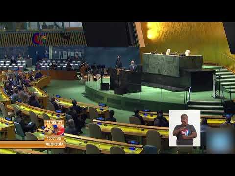 Participa Cuba en el 76 período de sesiones de la Asamblea General de Naciones Unidas