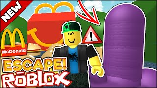 ROBLOX ADVENTURES | STRANGE RUBBER CREATION AND JUMPING ON BURGERS (Roblox Escape The McDonalds)
