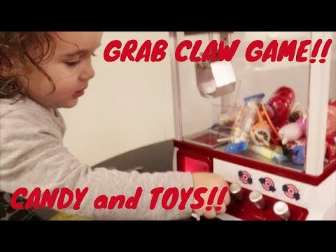 Mini Grab Claw Machine Full of Toys and CANDY!!!