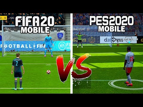FIFA 20 MOBILE VS PES 20 MOBILE - COMPARISON GAMEPLAY (ANDROID/IOS)
