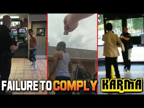 INSTANT KARMA Taser Compilation! Failure to Comply vs Excessive Force. Americas Dumbest Criminals