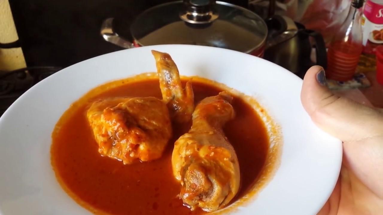 Salsa roja para carne de pollo