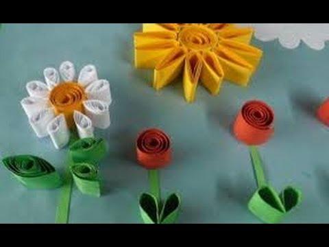 Como hacer manualidades faciles flores de papel 4 youtube - Youtube manualidades de papel ...