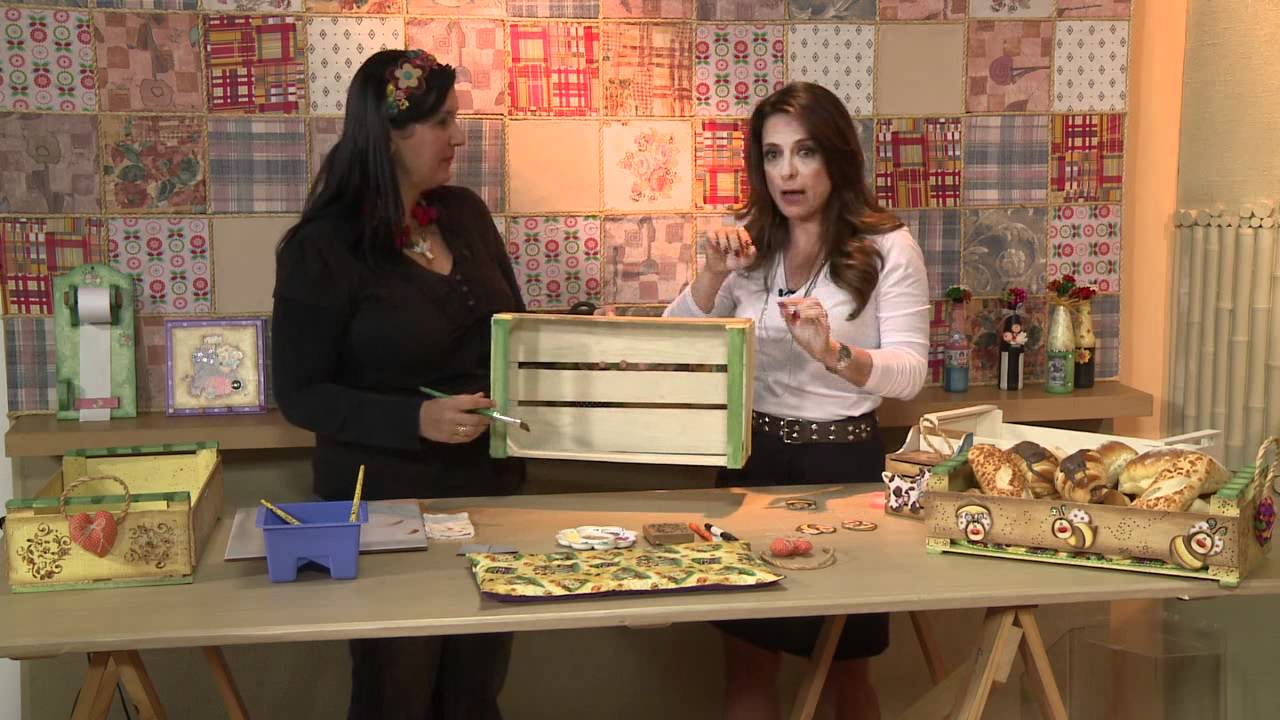 Artesanato Alagoas Maceio ~ Vida Melhor Artesanato Cesta de p u00e3es em caixa de uva (Kelly Pires) YouTube