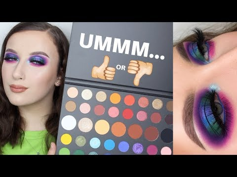 FINALLY Trying the Morphe x James Charles Palette | Alice King