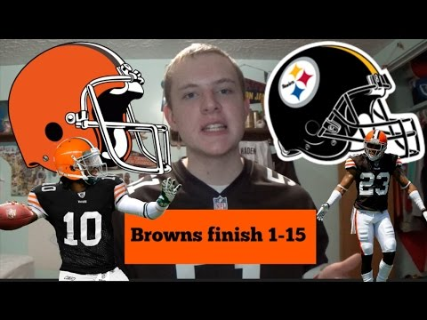 Browns Lose to Steelers 27-24 - Browns finish 1-15