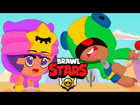 SANDY VS LEON FUNNY MOMENTS - BRAWL STARS ANIMATION