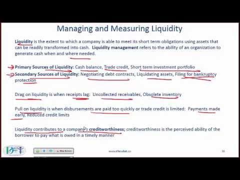 Level I CFA Corporate Finance Reading Summary: Working Capital Management