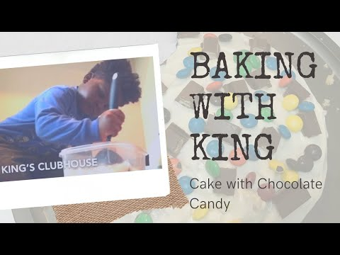 Baking White Cake with yummy treats inside | Tasty Dessert | Baking with King | King's Clubhouse