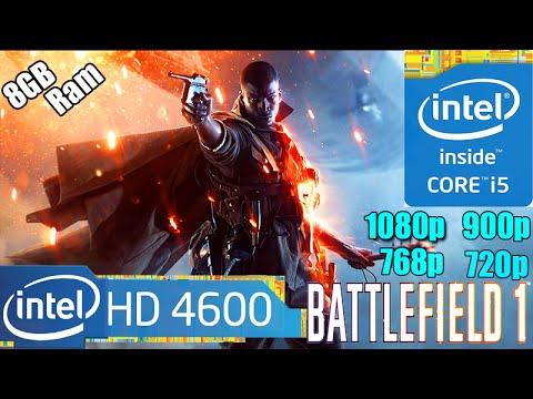 Battlefield 1 On Intel HD Graphics 4600 | Framerate Test | 1080p - 900p - 768p - 720p