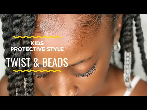 Twist & Beads Protective Style | Kids Natural Hairstyles | IAMAWOG