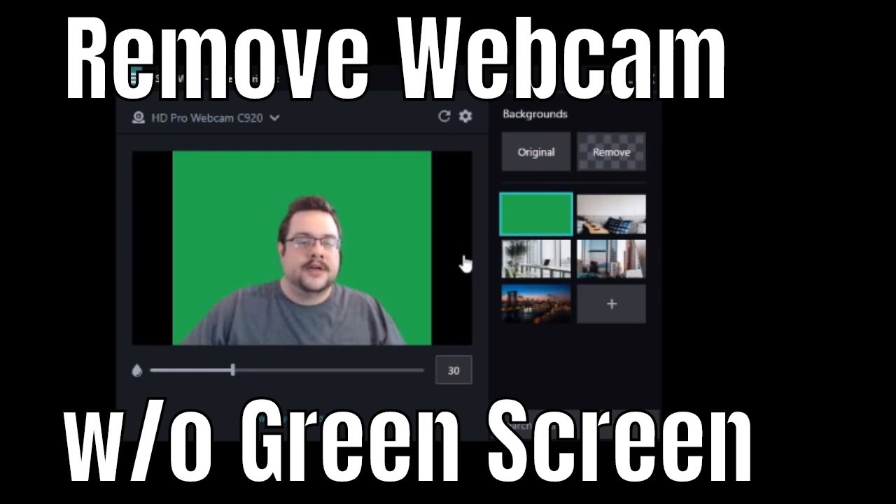 Remove Webcam Backround W O Green Screen Vcam And Camtasia Youtube