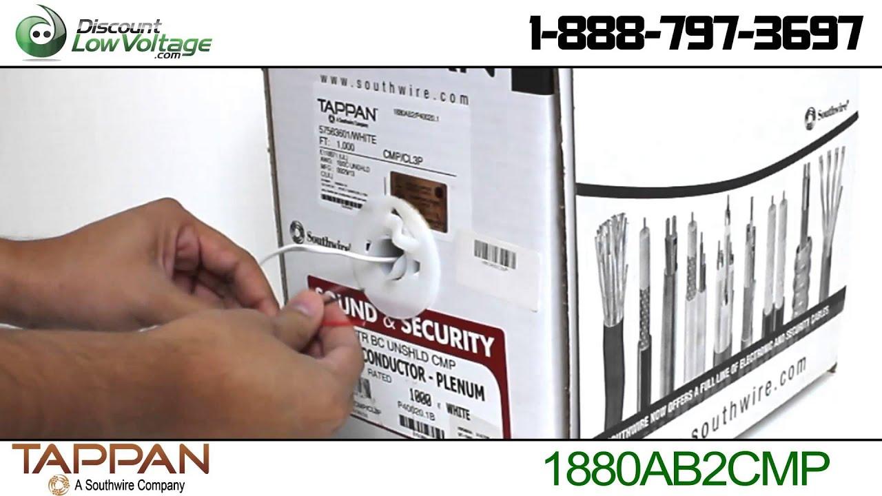 18 Gauge 2 Conductor Plenum Speaker Wire (Unshielded) - YouTube