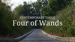 Four of Wands Upright: A fulfilling life! Healthy and balanced rela...