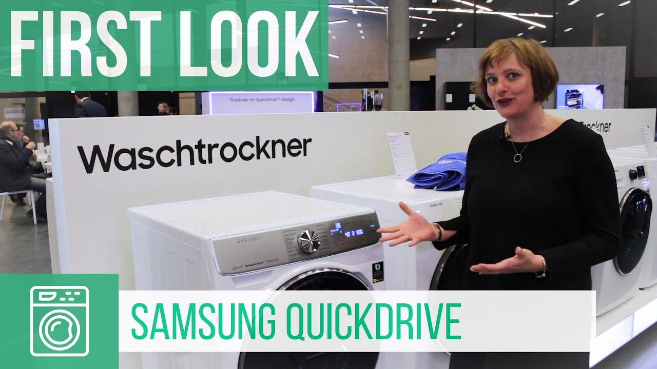 Samsung quickdrive waschtrockner german youtube