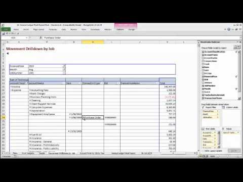Create Powerful General Ledger Excel PivotTables With Live MYOB Data