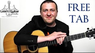 Fix You - Fingerstyle Guitar Tutorial - Coldplay - Part 1