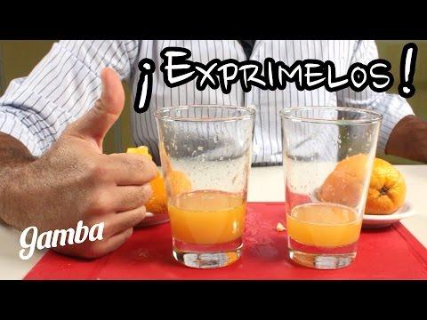 como hacer un jugo de naranja sin exprimidor