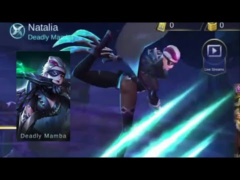 Natalia Deadly Mamba Skin First Look Mobile Legends Youtube