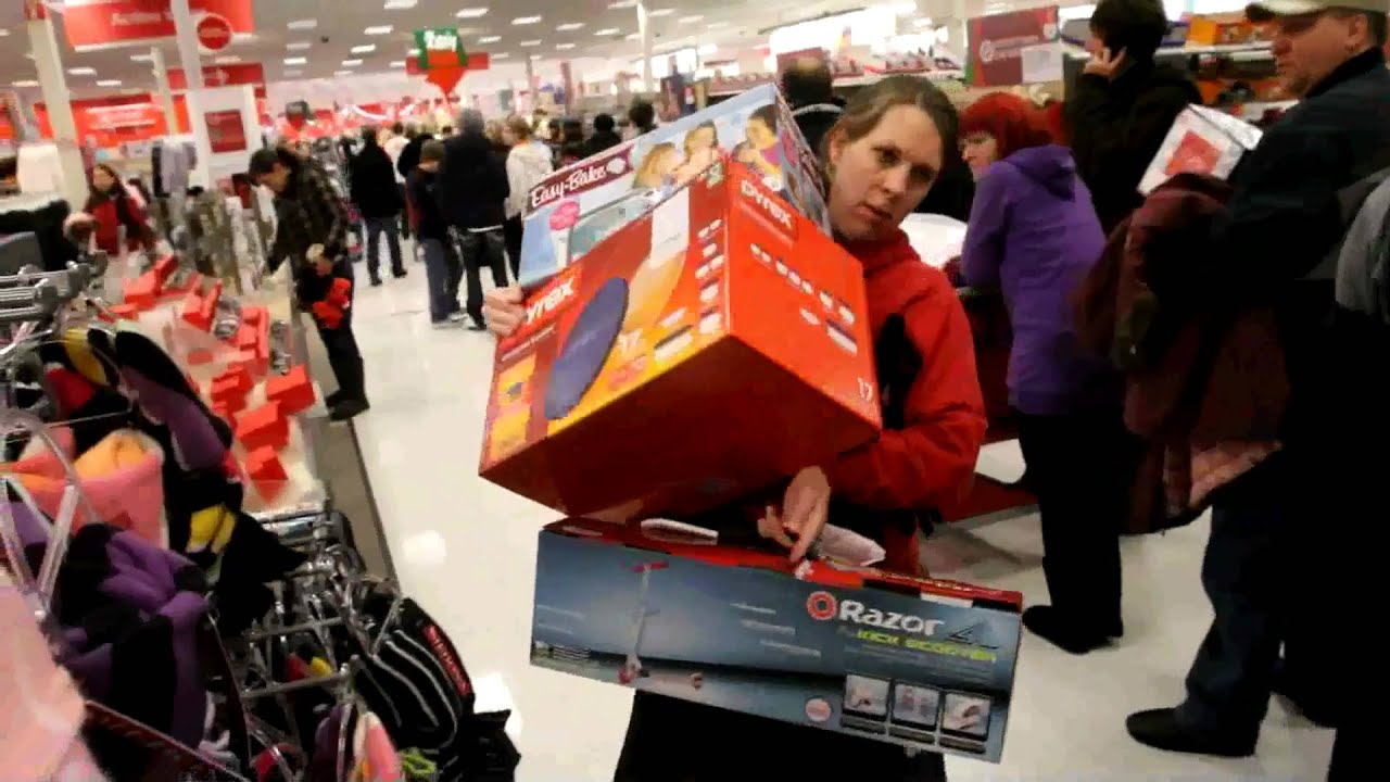 Shoppers Go Crazy On Black Friday Youtube