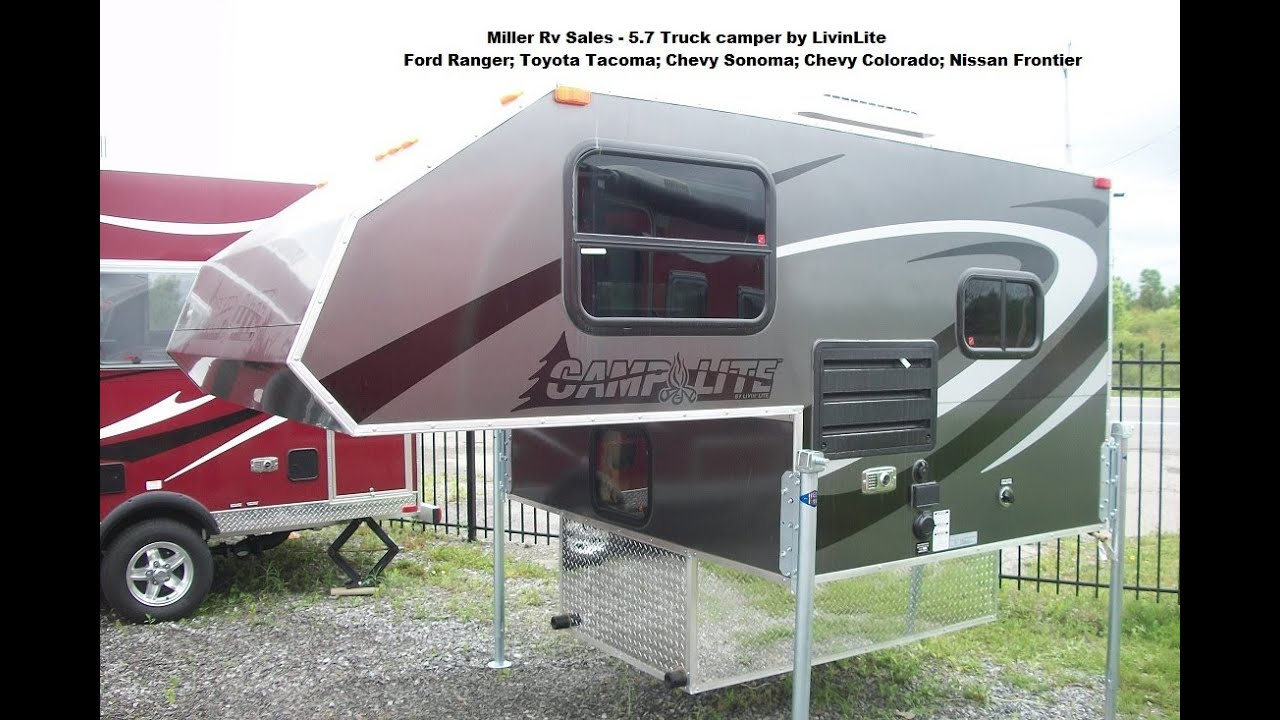 Small Camper With Slide Out >> CampLite Truck Camper 5.7 Model - YouTube