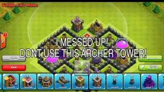 Clash of Clans - TH8 BEST TOWN HALL 8 FARMING BASE (4 MORTARS) - 2014