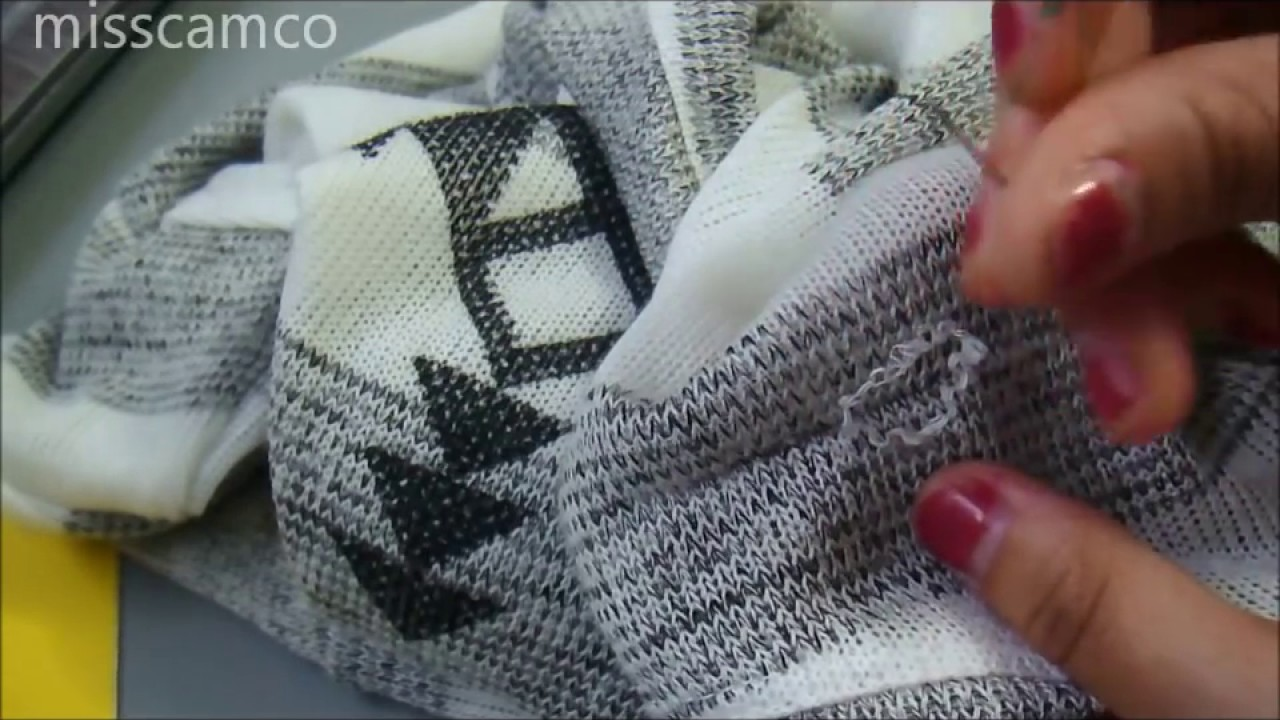How To Fix A Knitted Sweater Pull Youtube