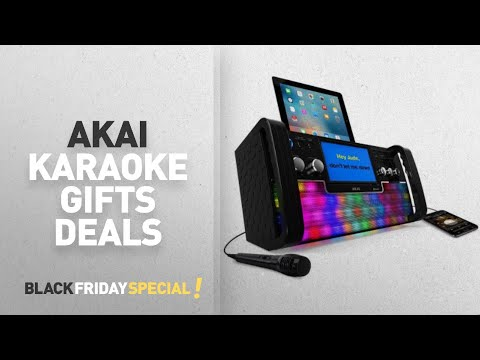 Walmart Top Black Friday Akai Karaoke Gifts Deals: Akai KS780-BT Bluetooth CD+G Karaoke System with