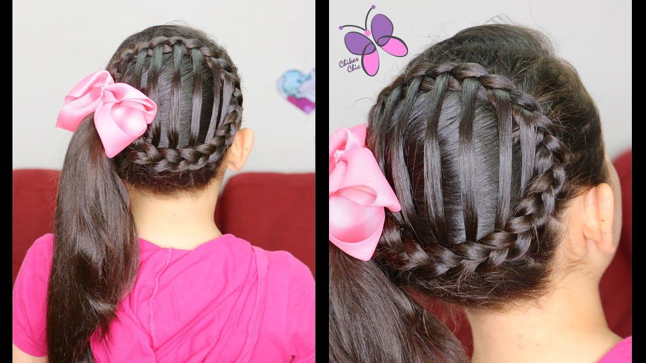 cola de lado tejida accented side ponytail peinados para nias peinados con trenzas youtube