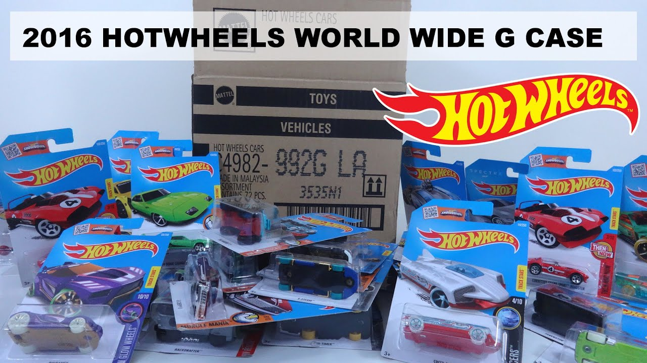 2016 HOTWHEELS WORLD WIDE G CASE UNBOXING 72 CARS - YouTube