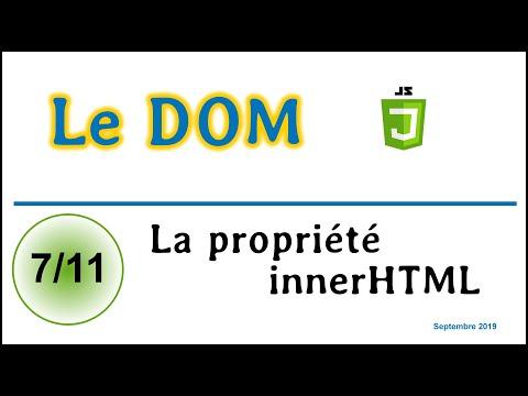 Travailler Avec La Propriété InnerHTML En Javascript [CDOM07]