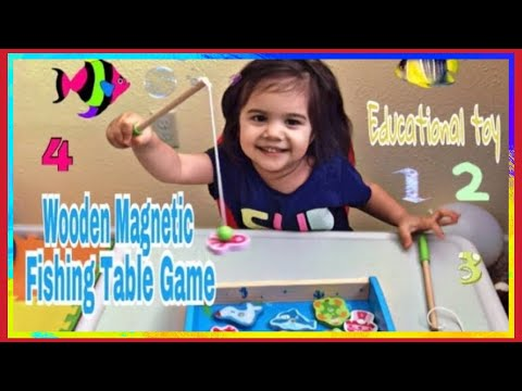 Wooden Magnetic Fishing Table Game | Fishing Game For Children | Fun Educational Game