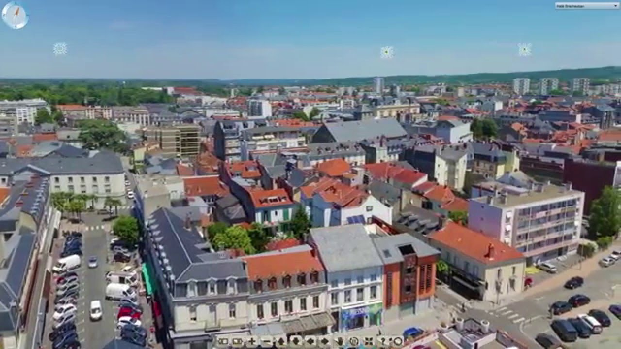 Visite virtuelle de la ville de tarbes extrait lien for Piscine mantes la ville