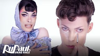 Gigi Goode's Blue Satin Look | Makeup Tutorial | RuPaul's Drag Race S12