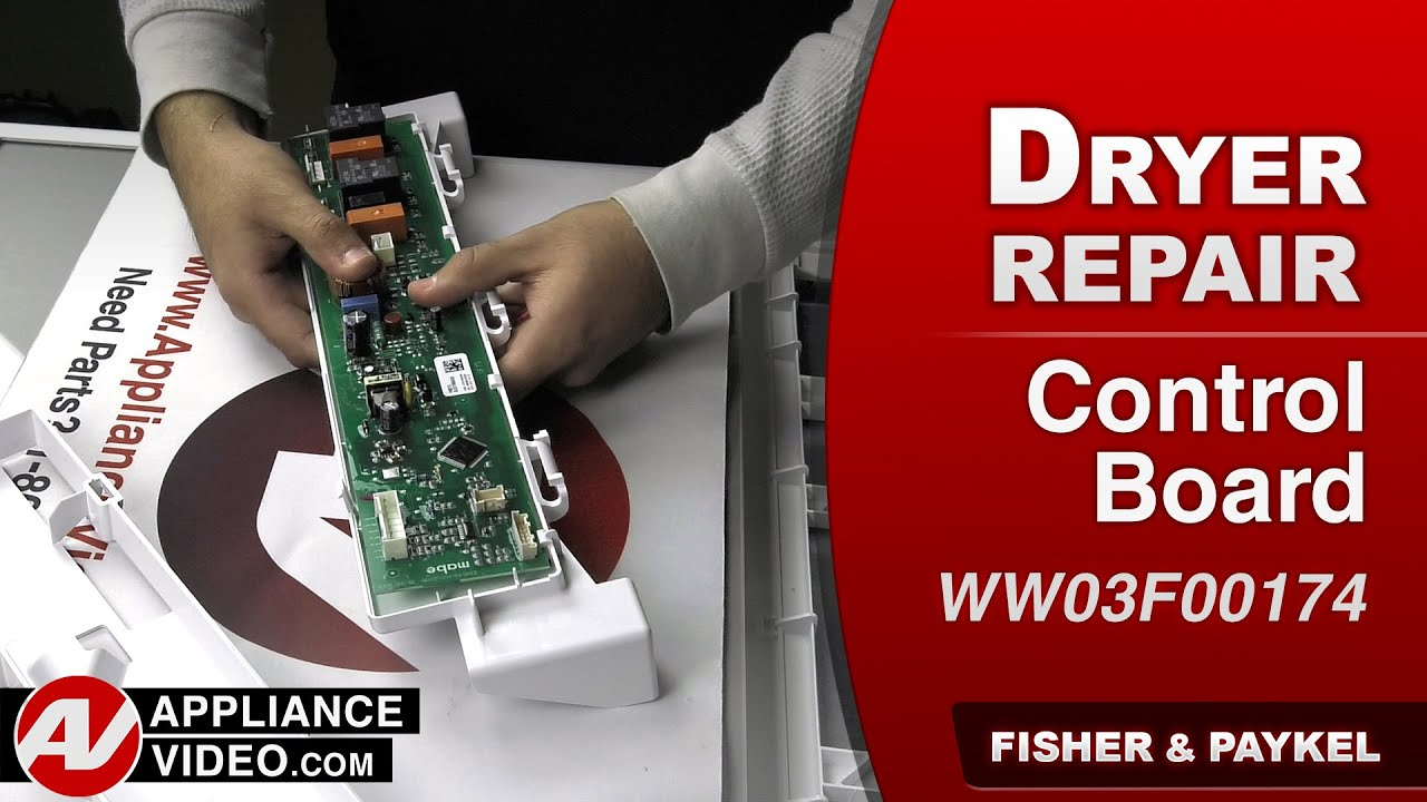 Fisher & Paykel Dryer - Control Board Repair - YouTube