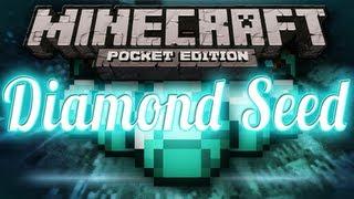 DIAMOND Seed - Iron, Gold, and Diamond Under Spawn - Minecraft Pocket Edition