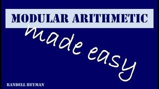 Modular arithmetic made easy