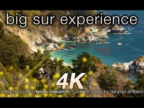 Big Sur 4K Experience (w Music) 4HR Nature Relaxation™ Video 4K UHD ft Darshan Ambient