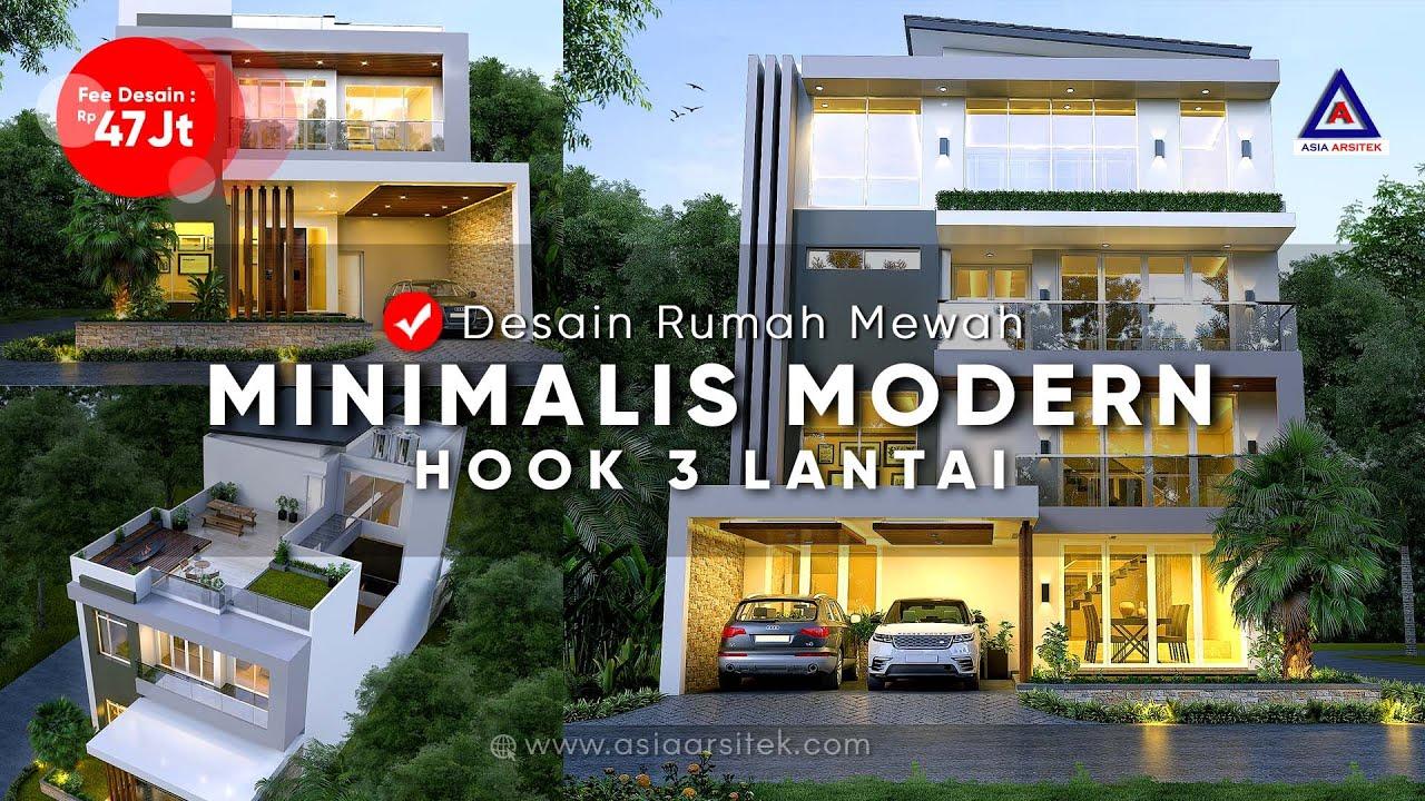 Jasa Arsitek Desain Rumah Minimalis Modern Hook 3 Lantai Ibu Fatimah Lippo Karawaci 3d Denah Youtube